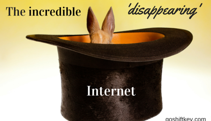 The incredible 'disappearing' Internet