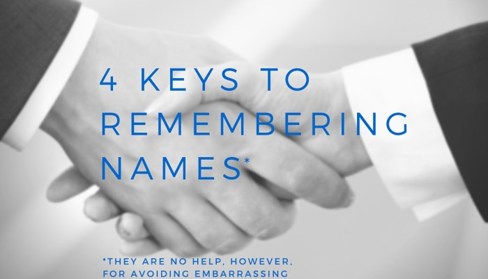 4 keys to remembering names